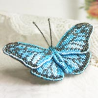 blue-wanderer_butterfly brooch_cross-stitch kit